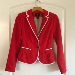 Red H&M Two Button Blazer